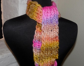 Hand  Knitted  Scarf  TANGERINE QUEEN