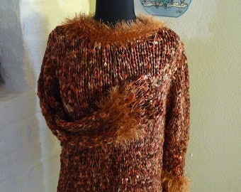 Hand Knitted Sweater COPPER