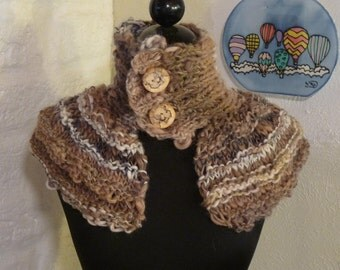 Knitted Caplet / Cowl / Neckwarmer WOODSY