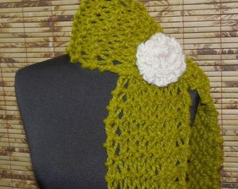 Hand Knitted Lena Scarf Lemongrass