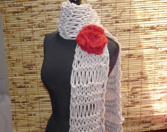 NEW FEATHER LINEN SCARF