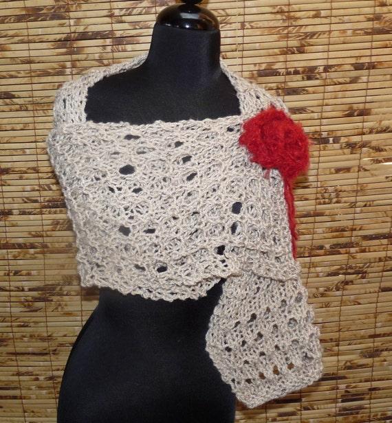 Knitted Alpaca Tweed Shawl Sunny OATS