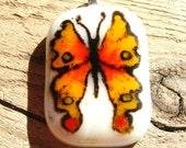 Unique butterfly glass pendant