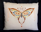 Craftsman Style Silk Butterfly Pillow Embroidery Kit
