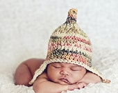 Instant Download, Gnome Earflap Hat Pattern - PDF PATTERN
