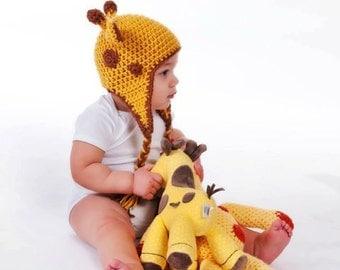 Instant Download, Crochet Giraffe Hat PDF Pattern - PDF File Only