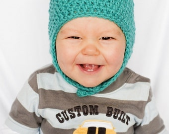 Instant Download, Beary Cute Aviator Hat - PDF PATTERN
