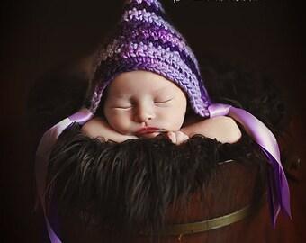 Instant Download, Pixie Bonnet PDF PATTERN, Newborn Size