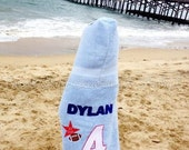 All American Football Star PERSONALIZED  Hooded Towel - Great for Beach, Pool or Bath - Boys AND Girls