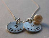 You are my shining star - Your Name - Your Word -HANDSTAMPED in Hebrew or English By Simag