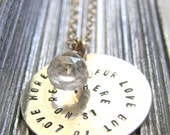 Engrave a message of love, hope or encouragement - Necklaces with poetry or a favorite quote - Handmade Handstamped By SimaG