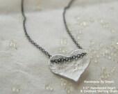 Mini  Sterling Silver Heart    -   handmade & handstamped by ....... SIMAG