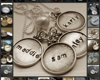 Every Disc Has A Story- custom framed rim - 4 discs  -Create your necklace - SimaG jewelry