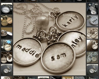 Every Disc Has A Story -Personalized Your Necklace In Hebrew OR English -4 discs  Personalized Charm Necklace For Mother-SIMAG - mothers day