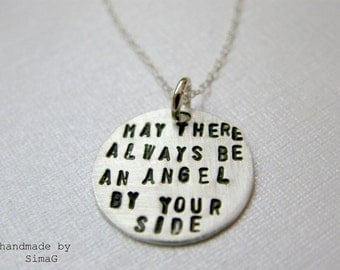 angel by your side - 2 sides -  handmade by SimaG