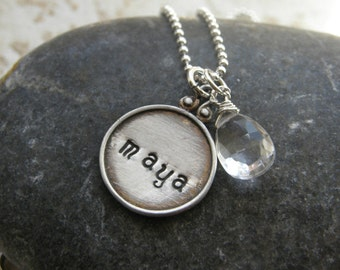 Every Disc Has A Story - Personalized Charm Necklaces -Create your necklace in Hebrew or English
