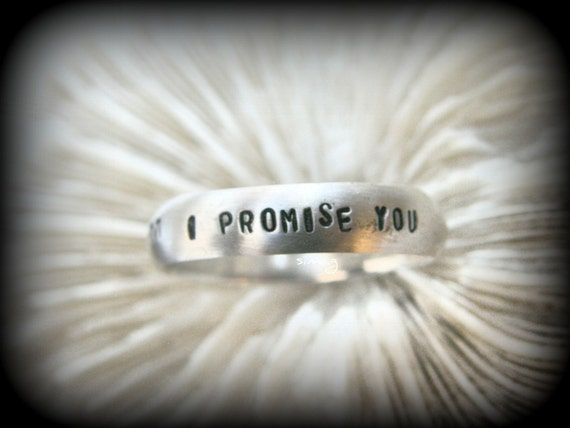 i promise you i will always you personalized ring