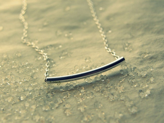 The Sterling Bar - Very Elegant and Delicate Necklace- By Simag
