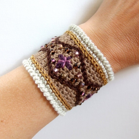 JÏENGE - Sami Inspired 16.5 cm Crocheted Bracelet - Made in Finland