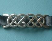 Sterling Silver Celtic Braid Ribbon Bracelet or Choker