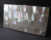 New Old Stock Vintage Marhill Mother of Pearl Clutch