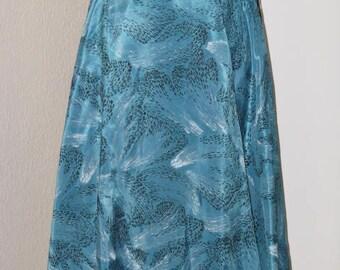 Gorgeous Vintage 50s Taffeta Full Circle Skirt