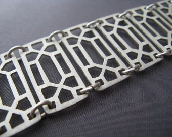 Sterling silver lattice bracelet