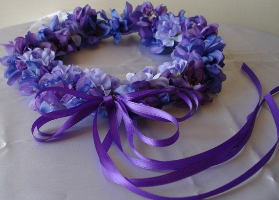 Lilac Lavender Violet Flower Girl Wreath