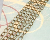 Cable Chain 6mm Soldered Antiqued Brass 3' AB31