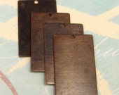 Vintaj Small Rectangle Brass Blank, 4 Pc. V57