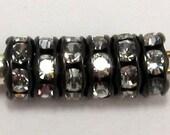 Perlen, Strassrondelle Jet Kristall 5mm 12 Stk. C191