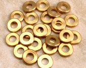 Mykonos Round Edge Spacer Solid Brass Bead, 7 MM 25 Pieces M75
