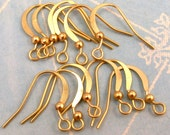 Flat French Ear Wire with Ball Hamilton Gold 12 Pc. AG216