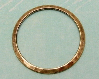 Medium Hammered Ring, Antique Gold, 2 Pc. AG130
