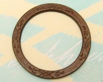 Floral Eternal Ring Vintage Patina Trinity Brass VP4