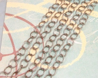 Cable Chain 6mm Soldered Antique Silver 3' AS207