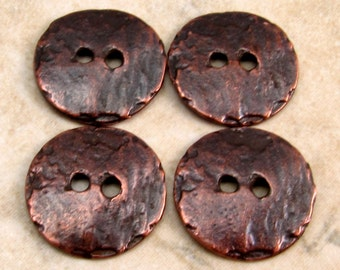 Bronze Cornflake Button, Mykonos Casting, 16mm, 4 Pieces M53