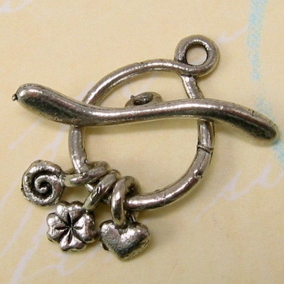 Charms Toggle Clasp, Antique Pewter AS75
