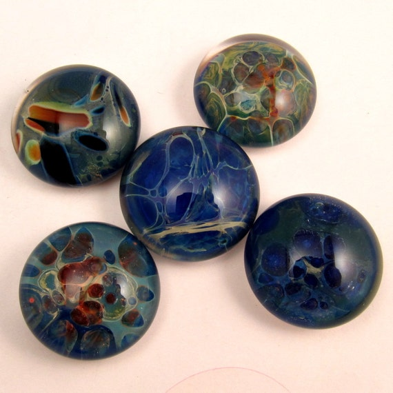 Glass Cabochon Lampwork Handmade Wholesale Lot 5 Pc. BA1