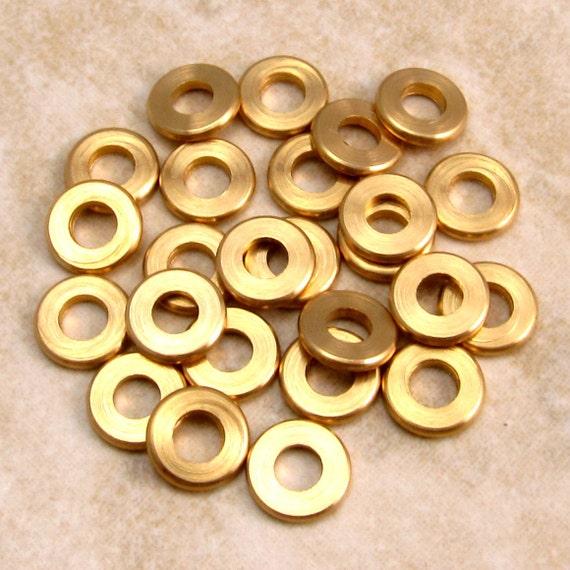 Mykonos Round Edge Spacer Solid Brass Bead, 7 MM 25 Pieces M75