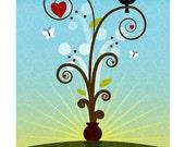 Heart Plant Print