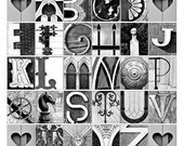 Alphabet Photo Letter Art - ABC's in architectural details - 12x12 print perfect for a teachers gift.