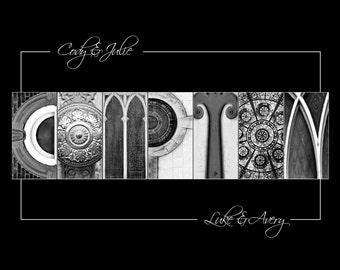 Custom Family Name Photo - Alphabet Photo Letter Art - Wedding Gift, Shower Gift, Anniversary