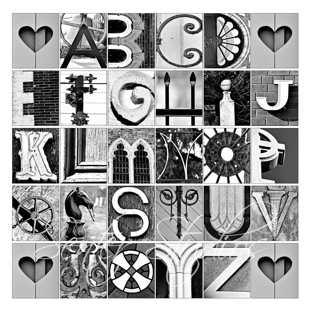 Alphabet Print ABCs Photo Letter Art From by senterstudios