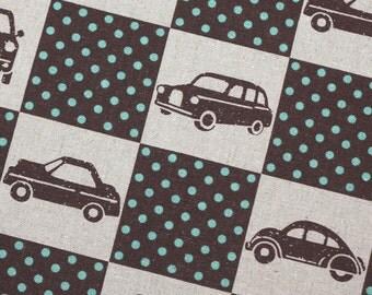 1/2 yard Brown Car Box Echino by Etsuko Furuya Kokka Ni-co fabric Japanese
