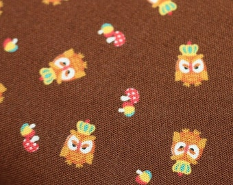 Owl King Kokka Trefle Japanese fabric 1/2  canvas