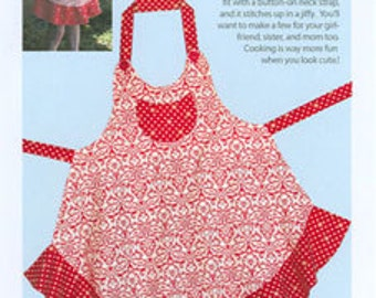 SALE Sassy Little Apron PATTERN by cabbage rose