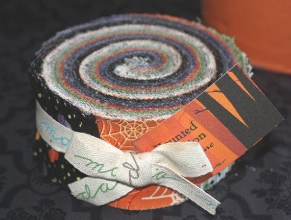 Haunted Mansion Jelly Roll Strips Halloween Moda By Quilttaffy