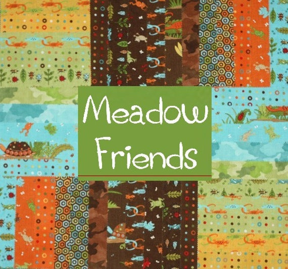 meadow friends boy set by deb strain 5 inch charm pack moda