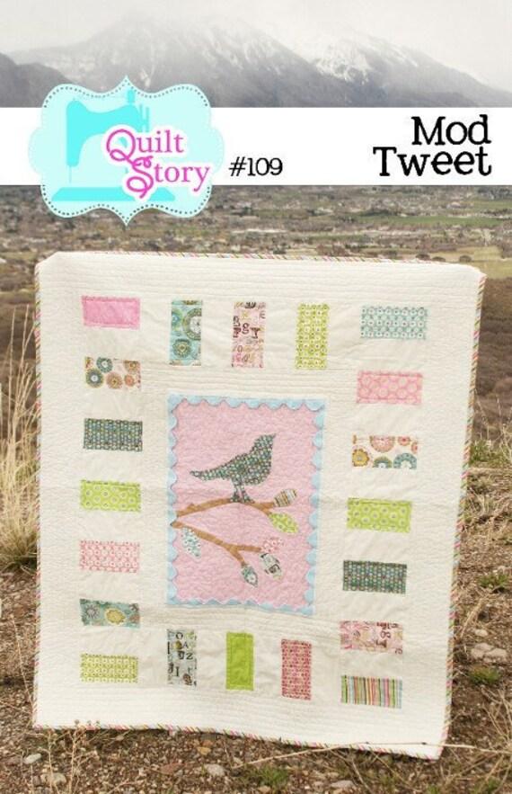 PATTERN Mod Tweet bird Quilt